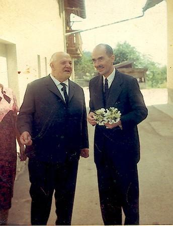 Wohl das letzte gemeinsame Bild: Dr. Otto v. Habsburg  und  ÖKR Josef Kaltenhauser 29. Mai 1968