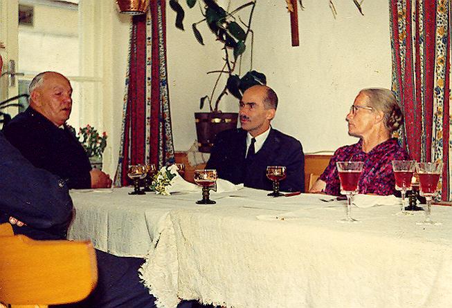 Dr. Otto Habsburg zu Besuch bei der  Familie Josef und Maria Kaltenhauser