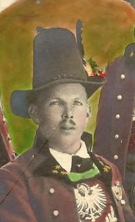 Josef Kaltenhauser 2.3.1900 – 30.6. 1968 Hauptmann der  Schützenkompanie Ampass von: 1929 – 1936(39?) 1953 - 1955