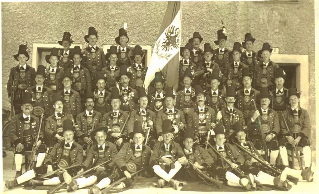 Schützenkompanie Ampass nach der Neuadjustierung (um 1934)